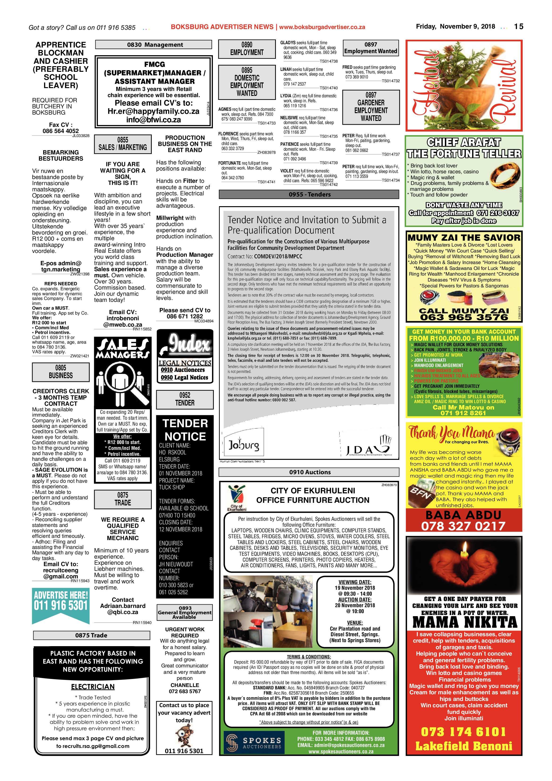 Boksburg Advertiser 06 November 2018   Boksburg Advertiser